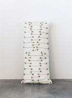 """16"""" x 36"""" Natural and Green Lumbar Pillow"""