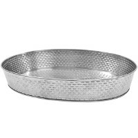 """12"""" Stainless Steel Oval Dish"""