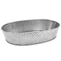 """10"""" Stainless Steel Oval Dish"""