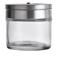 3 Oz Stainless Steel and Glass Spice Shaker