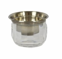 """6"""" Stainless Steel Dip Bowl With Acrylic Base For Ice"""