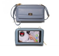 "8"" x 5"" Blue Sanibel Touch Screen Purse"