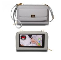 "8"" x 5"" Gray Sanibel Touch Screen Purse"