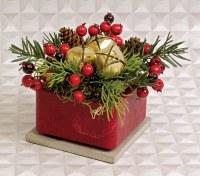 """4"""" Square Jingle Wax Box"""