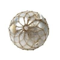 """3.5"""" White Capiz Orb With Net"""
