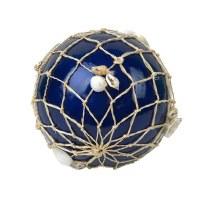"3.5"" Navy Capiz Orb With Net"