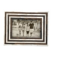 """4"""" x 6"""" Brown and White Stripe Frame"""