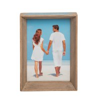 "5"" x 7"" Turquoise and Brown Wooden Frame"