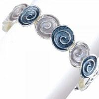 Gray and Blue Swirls Bracelet