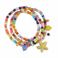 Multicolored Beads With Starfish Bracelet