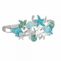 Aqua Shells and Starfish Bracelet
