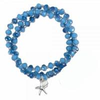 Blue Beaded Starfish Bracelet