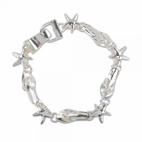 Silver Toned Starfish and Bracelet Bracelet