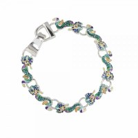 Mutlicolored Enamel Mermaid Link Bracelet