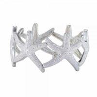 Large Silver Toned Starfish Bracelet