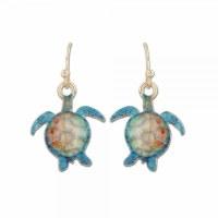 Multicolored Turtles Earrings