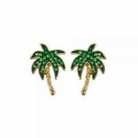 Green Palm Bling Earrings