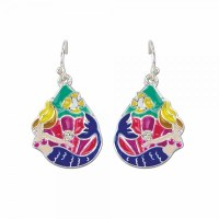 Multicolored Enamel Mermaids Earrings