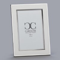 "4"" x 6"" White and Silver Picture Frame"