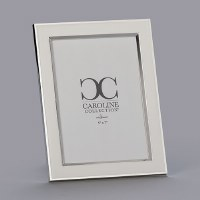 "5"" x 7"" White and Silver Picture Frame"