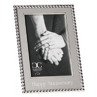 "4"" x 6"" Silver Happy Anniversary Picture Frame"