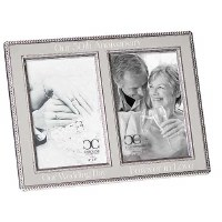 "4"" x 6"" 50th Anniversary Double Picture Frame"