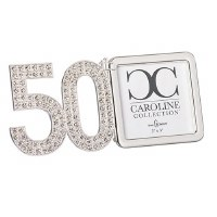 "3"" x 3"" 50th Anniversary Bling Picture Frame"