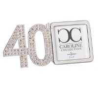 "3"" x 3"" 40th Anniversary Bling Picture Frame"