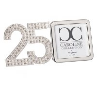 "3"" x 3"" 25th Anniversary Bling Picture Frame"