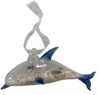 Dolphin With Sand and Shells Ornament