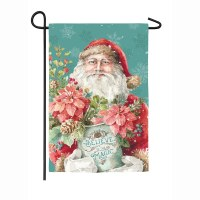 "18"" x 12"" Christmas Magic Santa Garden Flag"