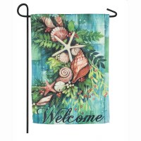 "18"" x 12"" Shell Swag Garden Flag"