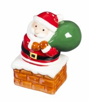 Santa in Chimney Salt and Pepper Shaker