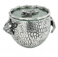 "7"" Antique Silver Finish Gator Ice Bucket"