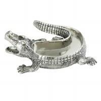 "11"" Antique Silver Finish Gator Dish"
