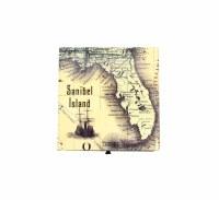 """6"""" Square Sanibel Map Box"""