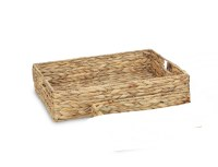 "13"" x 17"" Natural Rectangle Woven Tray"