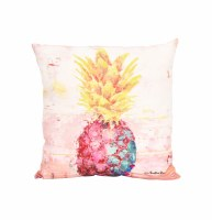 "18"" Square Multicolor Pinapple Pillow"