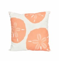 "18"" Square Coral Sand Dollar Pillow"