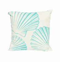 "18"" Square Blue Shell Pillow"