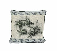 "17"" Square Sea Turtles Pillow"