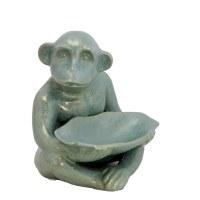 "9"" Green Monkey Ceramic Dish"