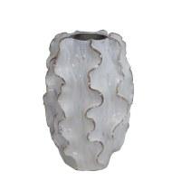 """15"""" White Flange Ceramic Vase"""
