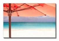"32"" x 48"" Coral Umbrella Perspective Canvas"