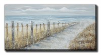 "30"" x 60"" Blue Water Horizon Canvas"