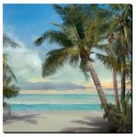 "16"" Square 3 Palm Trunk Canvas"