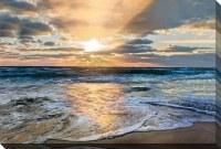 "38"" x 60"" Sunset Beach Canvas"