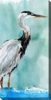 """40"""" x 20"""" Del Ray Crane Facing Right Canvas"""