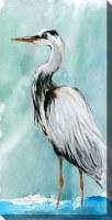 """40"""" x 20"""" Del Ray Crane Facing Left Canvas"""
