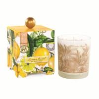 14 Oz Lemon Basil Glass Candle